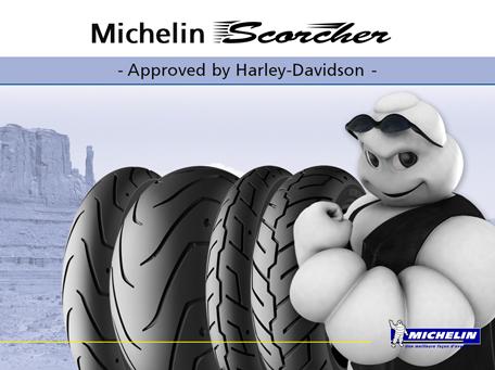 Michelin Scorcher per Harley-Davidson disponibili dai rivenditori