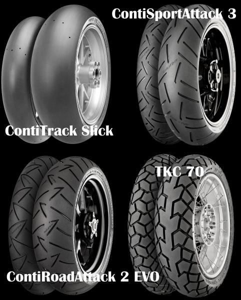 Continental - pneumatici da moto 2016